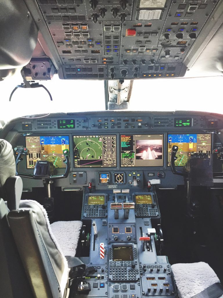 cockpit view of heads up display