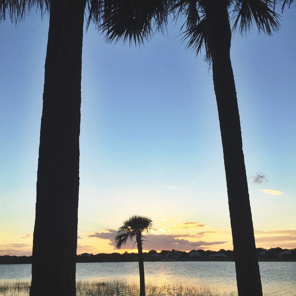 sunset over orlando florida